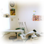 治療台回り風景